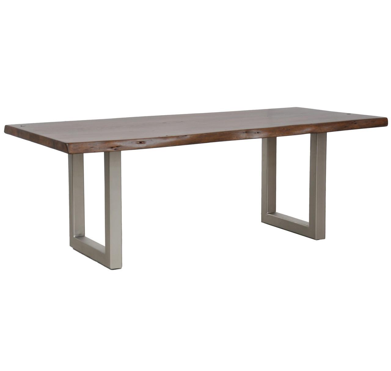 wood metal dining table. Montana Solid Wood Metal Leg Dining Table 94\