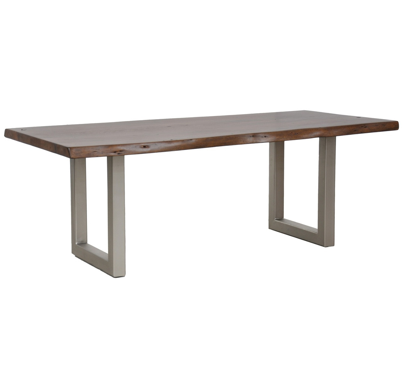 Greatest Montana Solid Wood Metal Leg Dining Table 94
