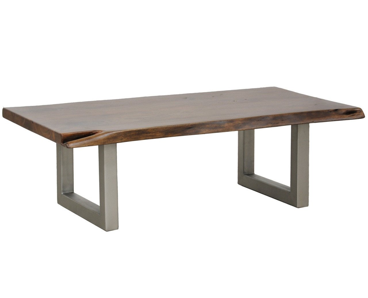 Montana solid wood metal leg coffee table zin home for Wood top metal legs coffee table