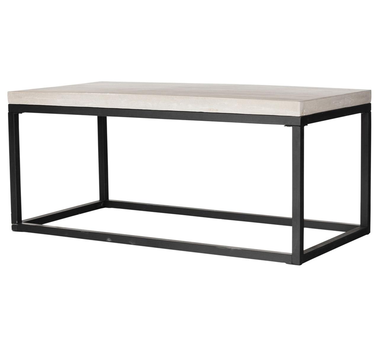 Beau Masonry Concrete Box Frame Rectangular Coffee Table