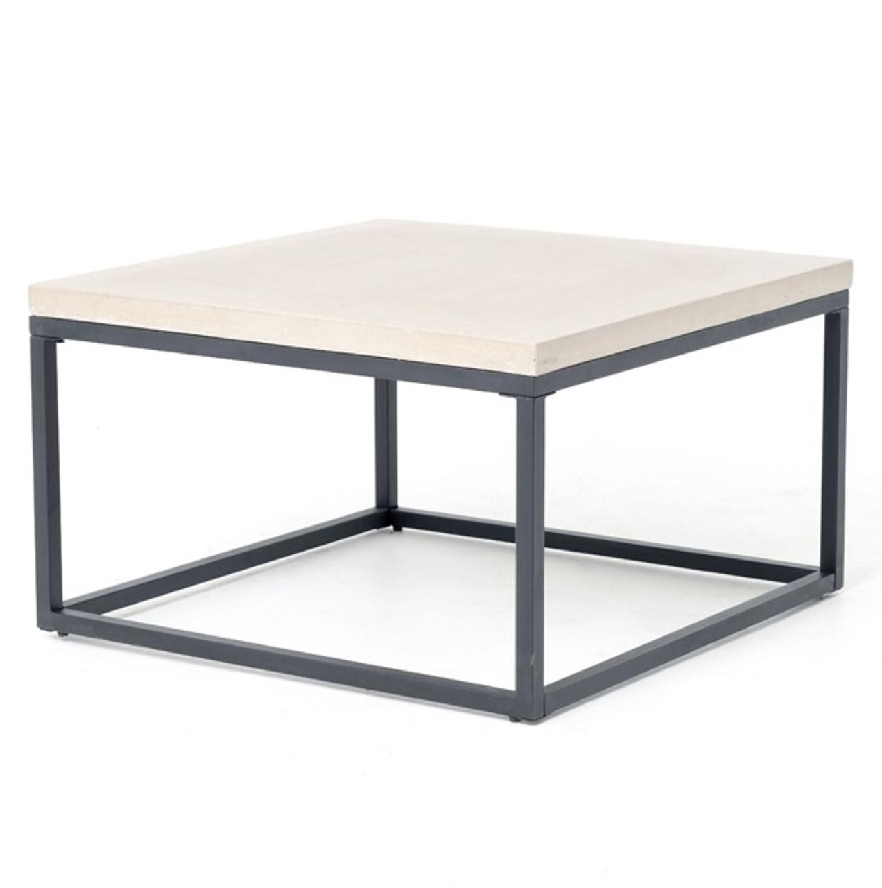 Bon Masonry Concrete Box Frame Square Coffee Table
