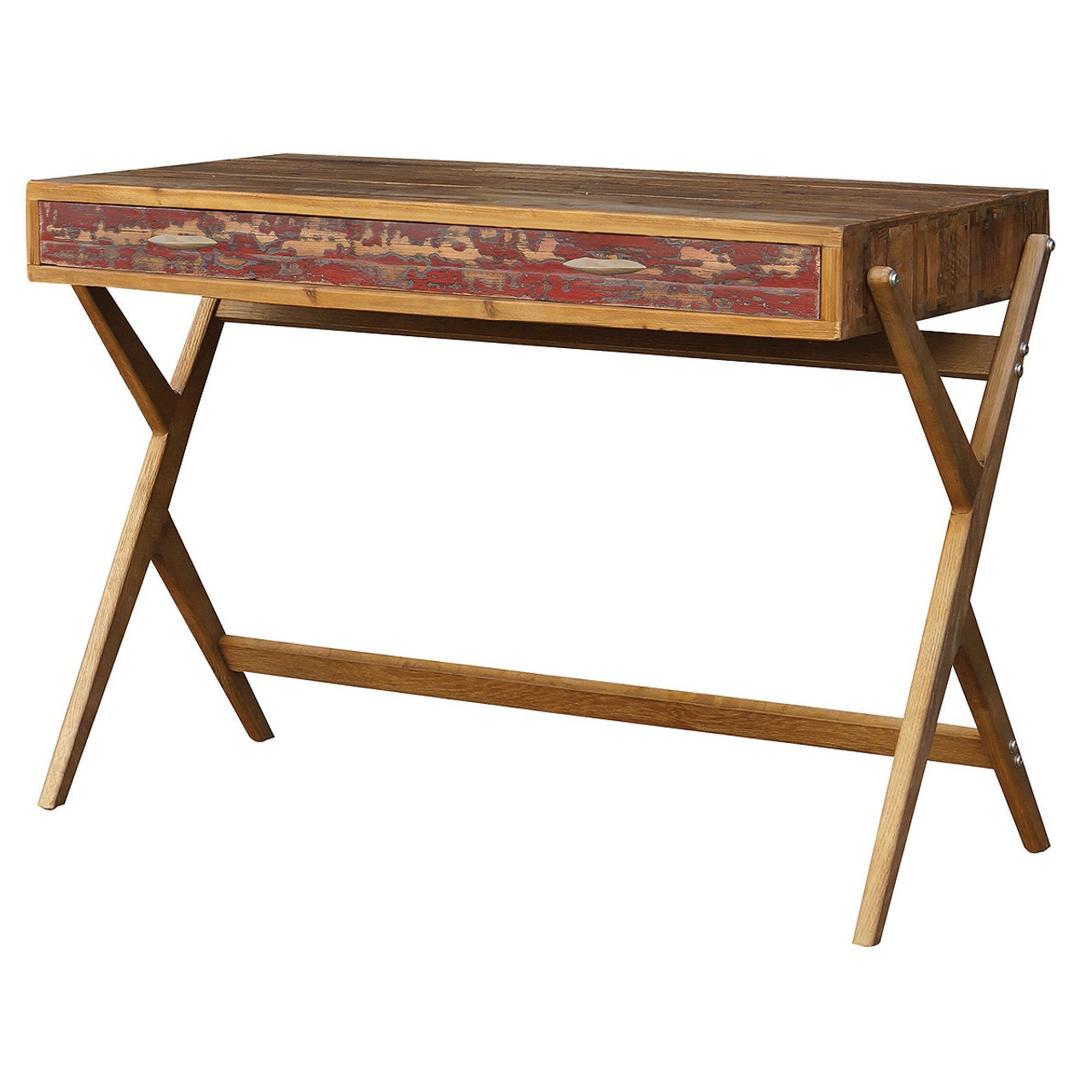 Charmant Mid Century Reclaimed Pine Home Office Desk