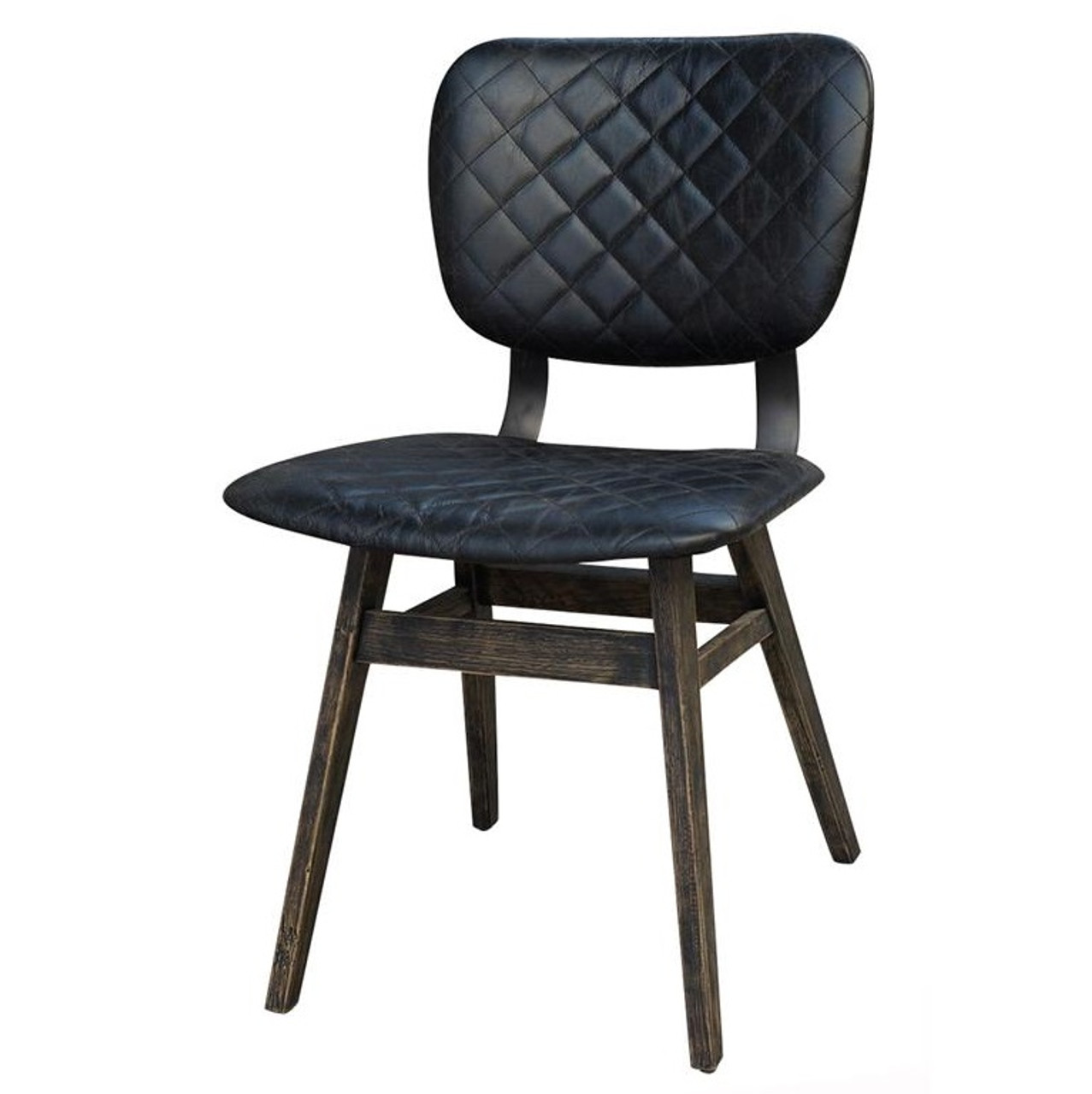 leather side chairs. Sloan Quilted Ebony Leather Dining Side Chair Chairs