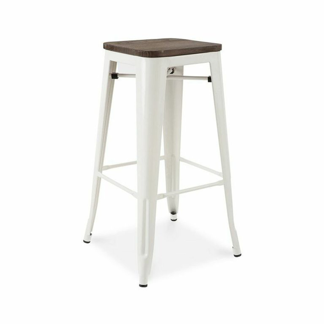wood metal bar stools. French Industrial Wood And Metal Bar Stools (Set Of 4) A