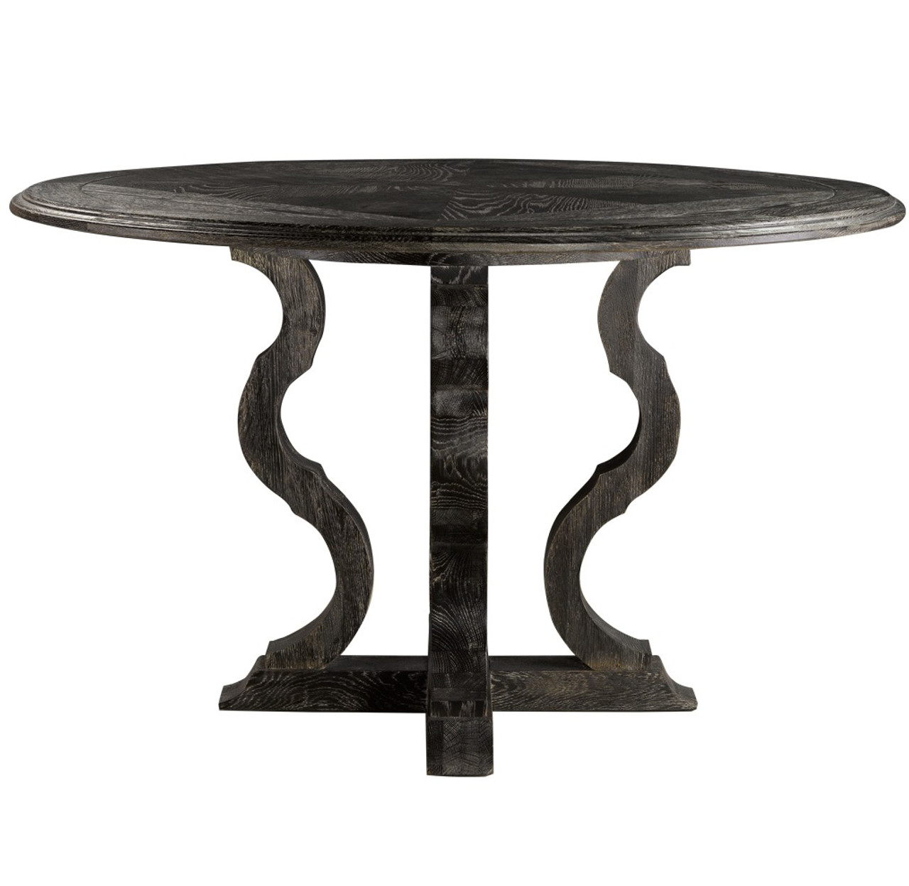 French Antique Black Round Pedestal Dining Table 50 Quot Zin