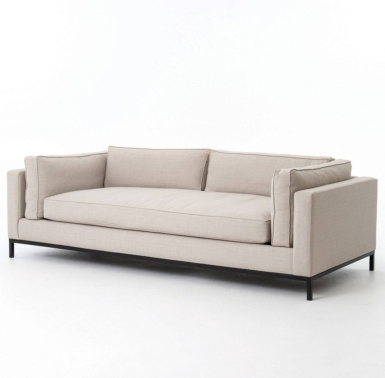 Exceptional Grammercy Modern Linen Sofa