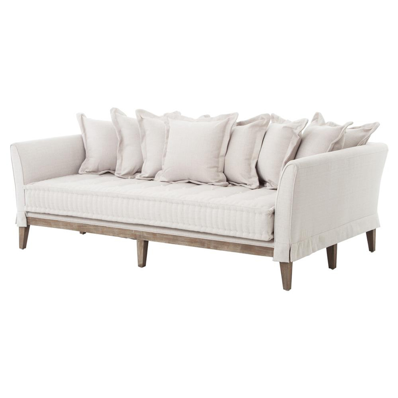 Superb Dedon French Country Coastal Style Light Sand Sofa