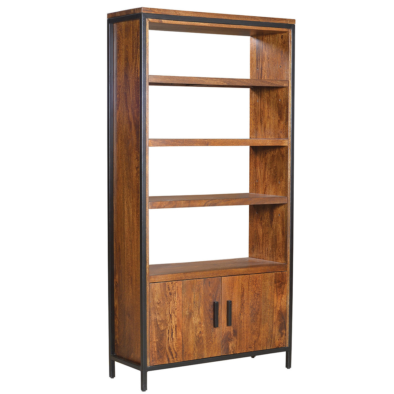Foundry Parson Metal + Wood Bookcase Cabinet