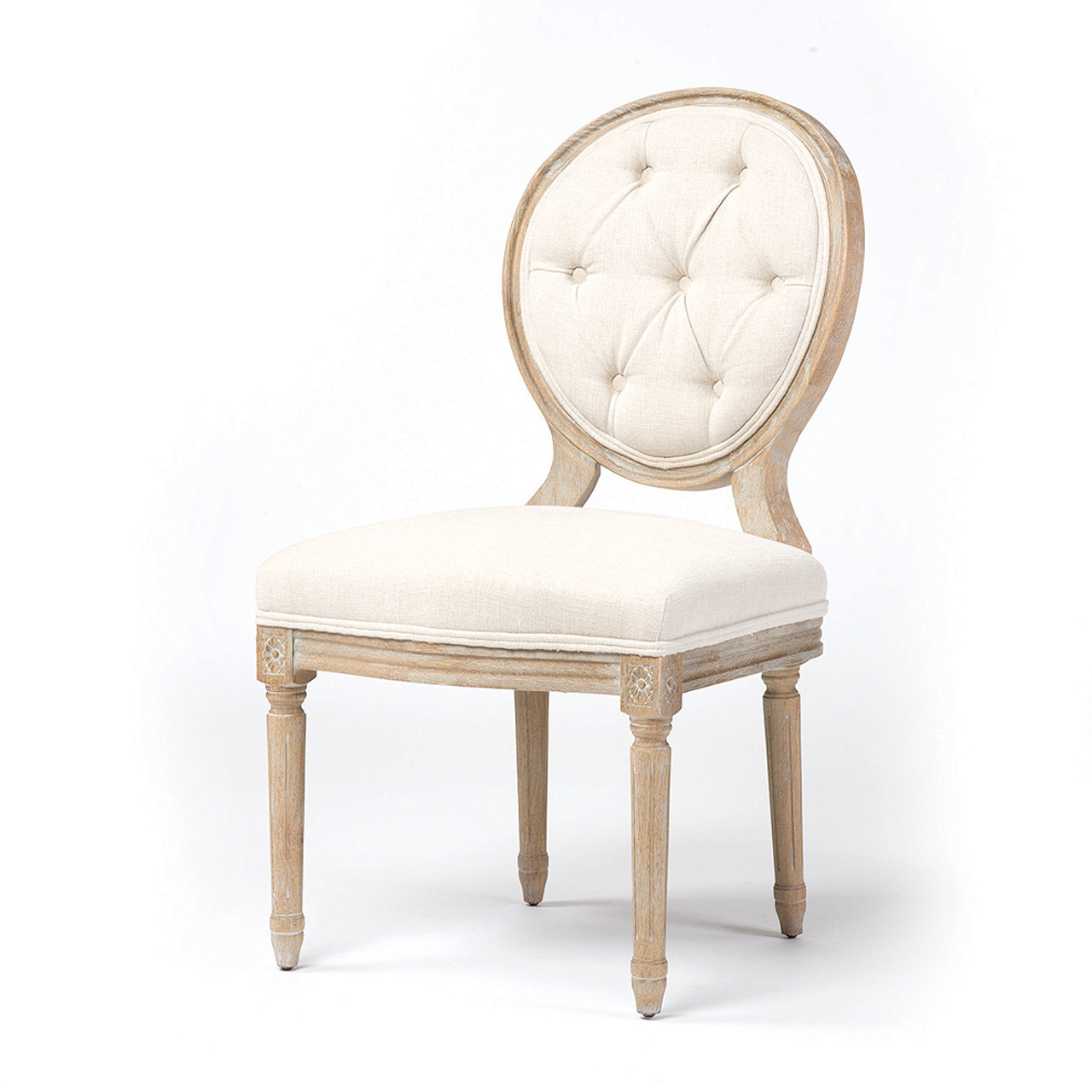 Merveilleux Stella Vintage French Tufted Dining Side Chair