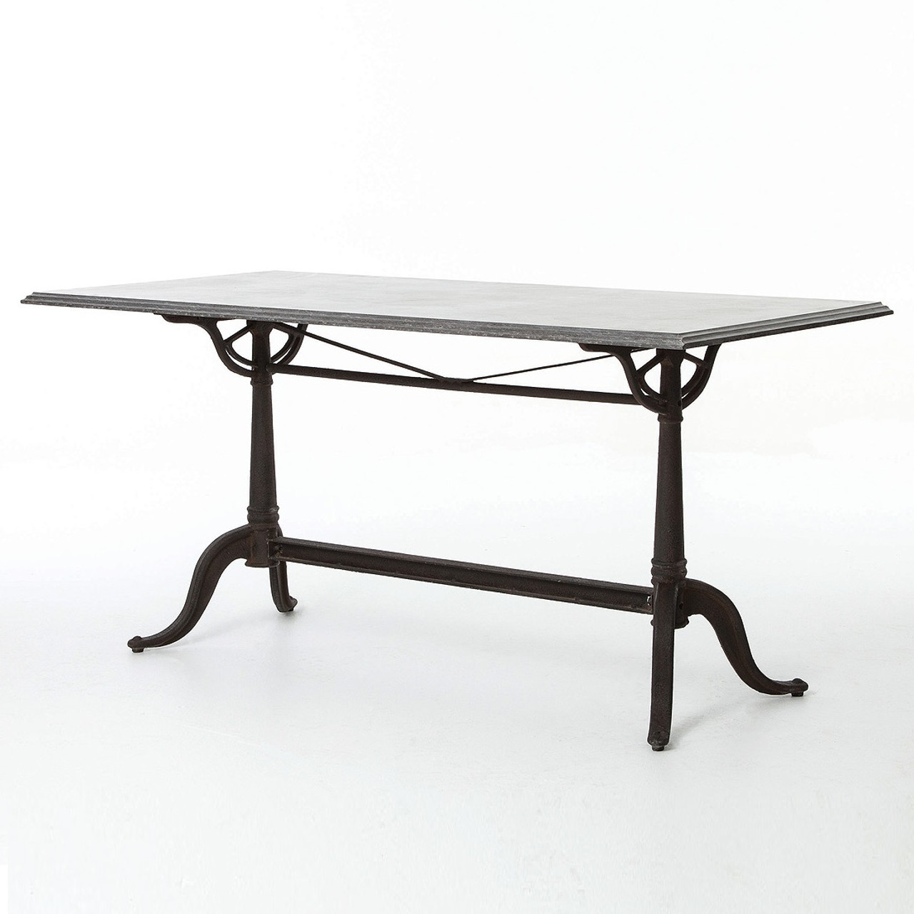 iron industrial furniture. Parisian Industrial Cast Iron And Bluestone Top Bistro Dining Table Iron Industrial Furniture