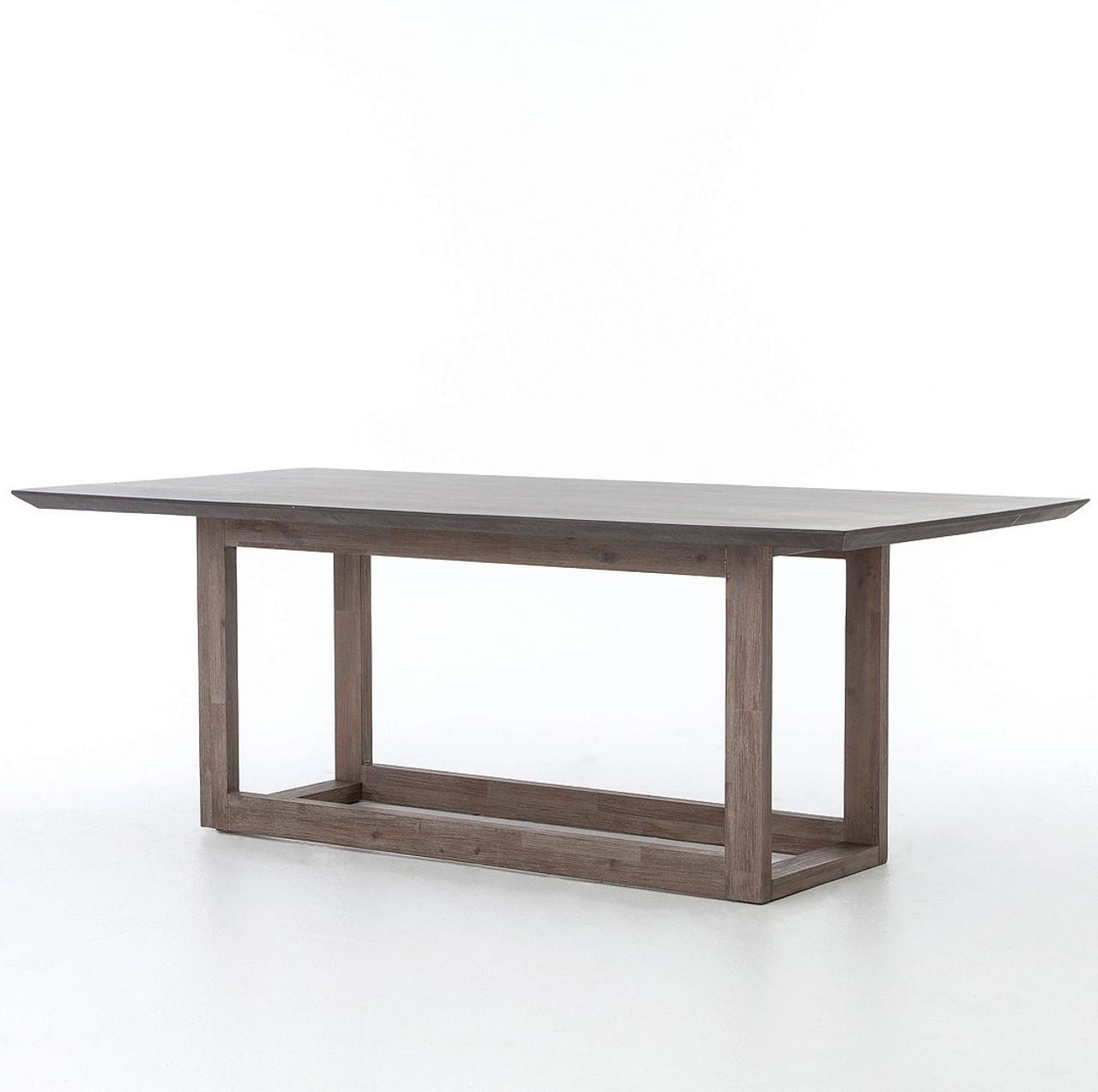 Masonry Wood And Black Concrete Dining Table 79u201d