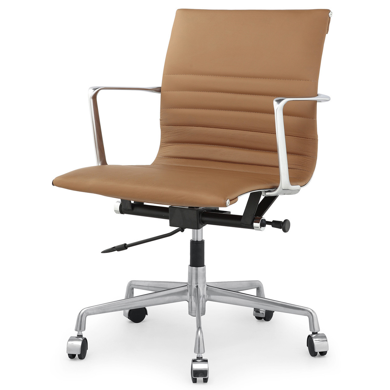 Brown Italian Leather M346 Modern Office Chairs Zin Home