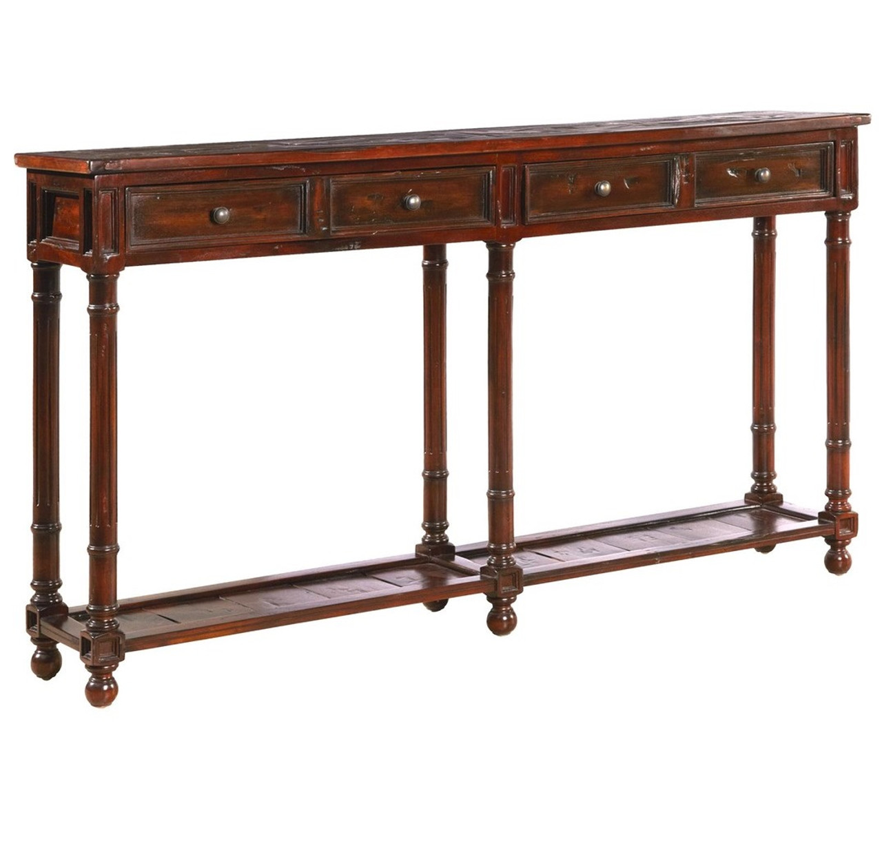Exceptionnel Country Solid Wood 2 Drawer Narrow Console Table