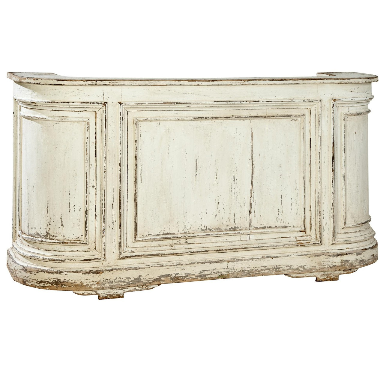 Ordinaire Cottage Antique White Mahogany Bar Counter Furniture