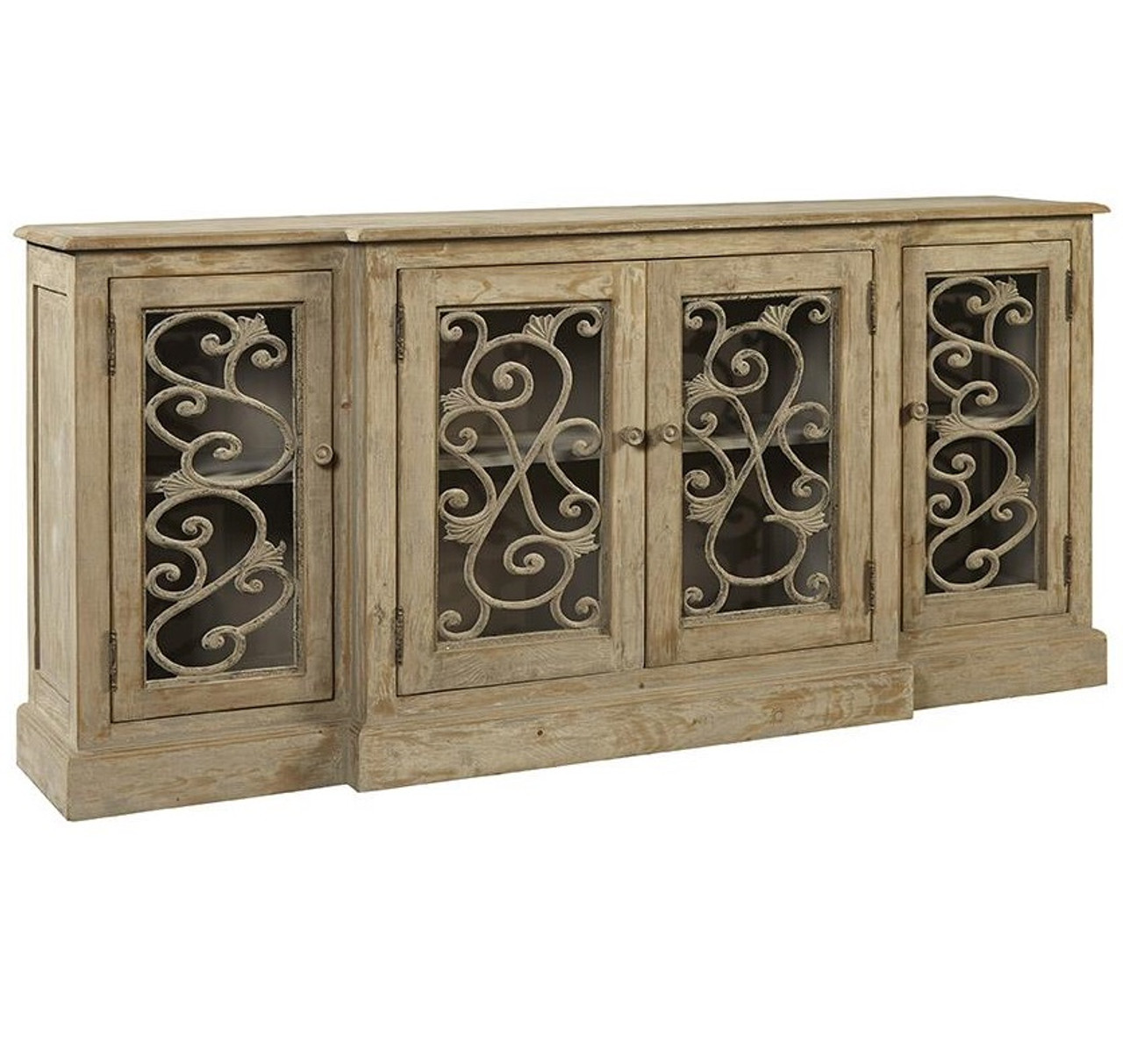 Chateau Chinon Rustic Grey Vintage Sideboard Buffet