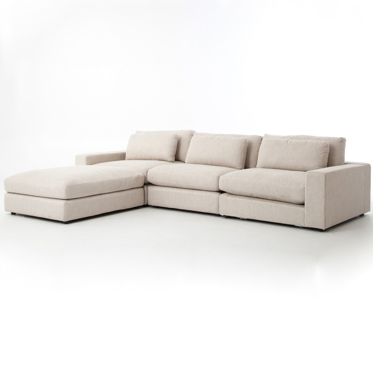 Bloor Beige Contemporary 4 Piece Sectional Sofa Zin Home