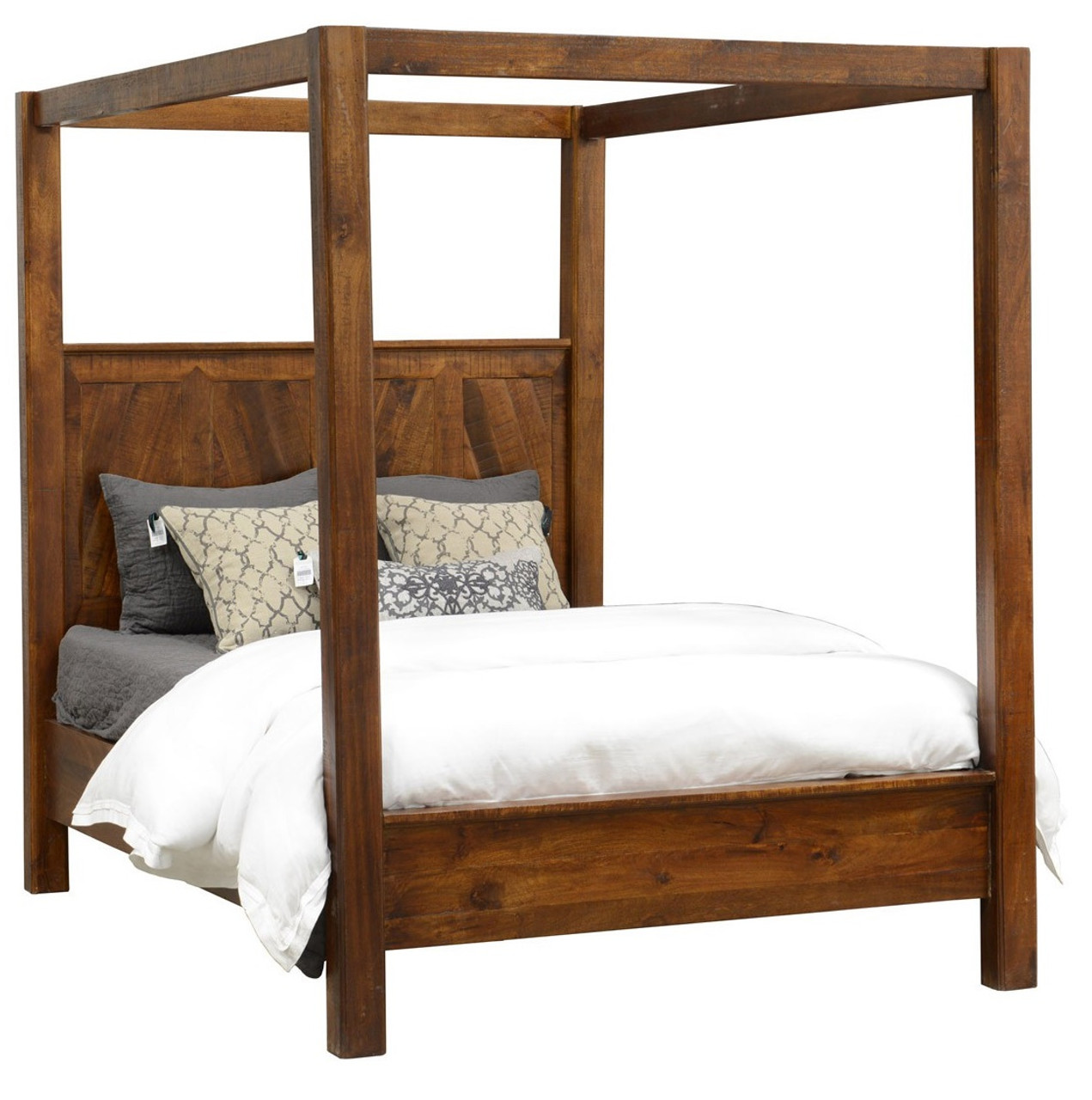 Kosas Queen Wood Canopy Bed  sc 1 st  Zin Home & Kosas Solid Wood Queen Canopy Bed Frame | Zin Home