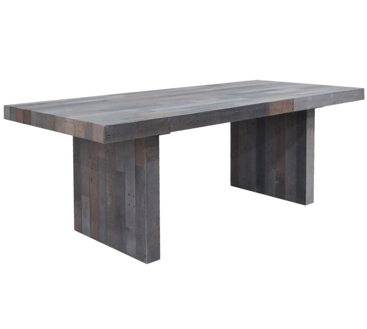 gray dining table. Angora Storm Reclaimed Wood Dining Table 82\ Gray I