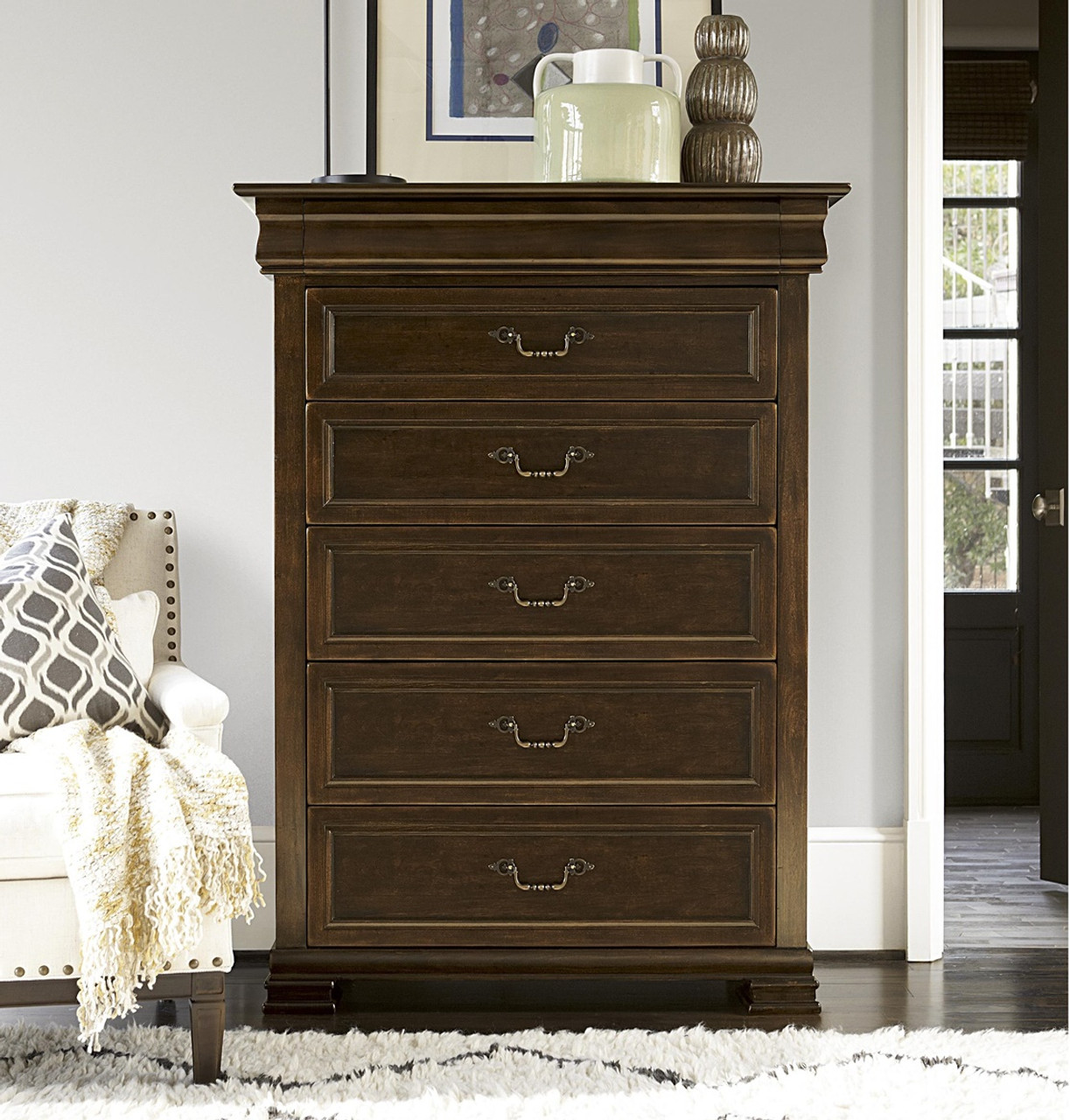 Sonoma Vintage Brown 6 Drawer Tall Chest Zin Home