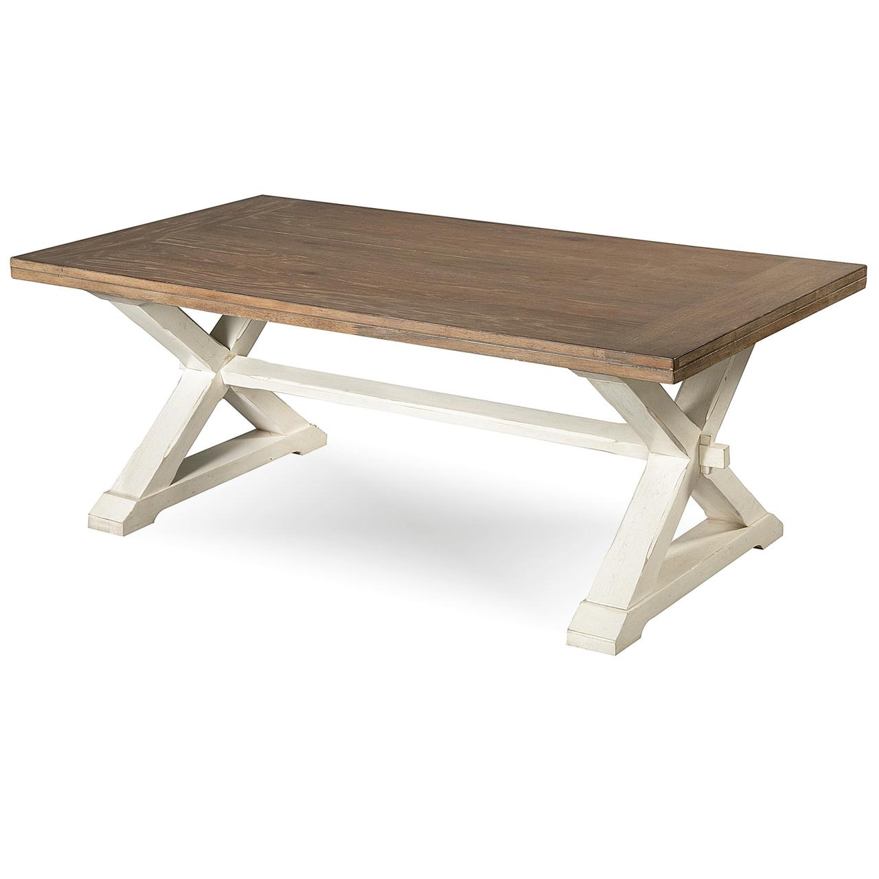 coastal beach furniture. Coastal Beach White Oak Cocktail Table Furniture