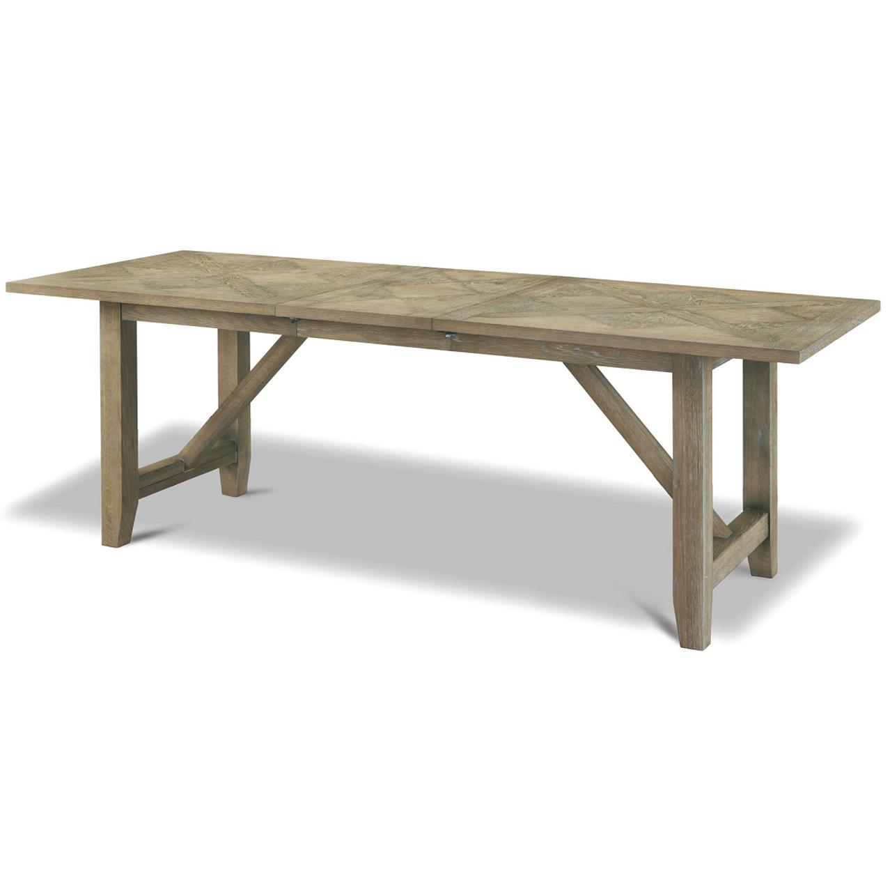 French Oak Extendable Farmhouse Kitchen Table 78-100\
