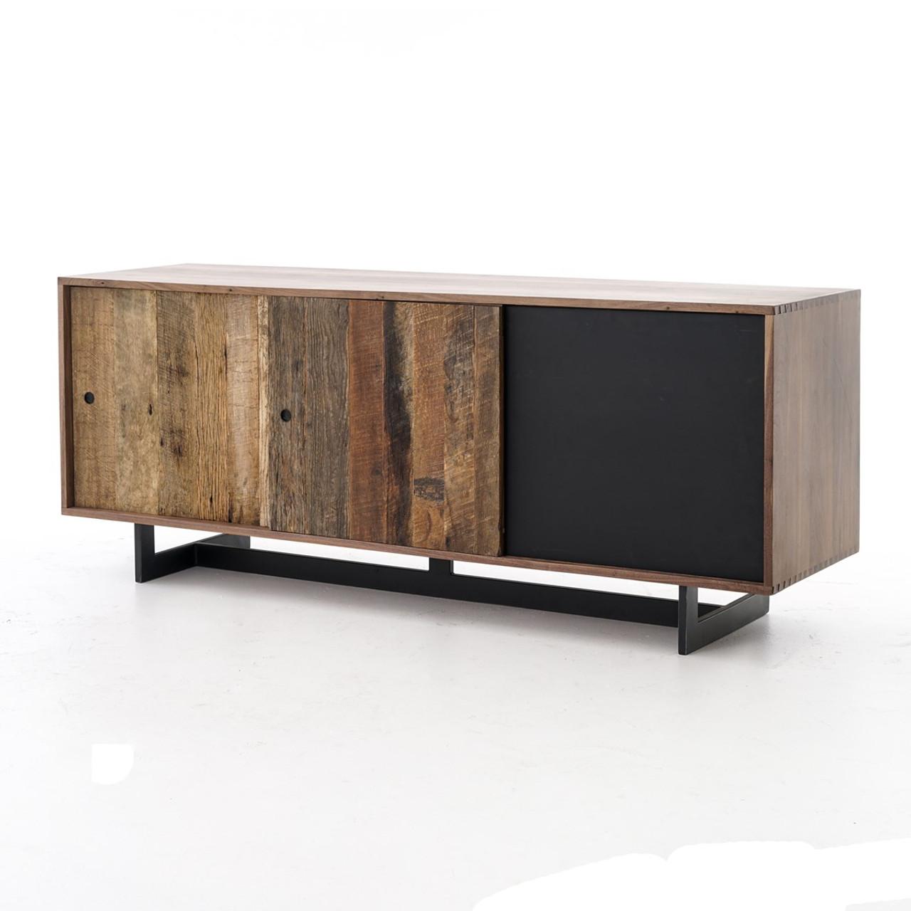 industrial media furniture. Anderson Industrial Rustic Oak Wood And Metal Media Console Furniture A