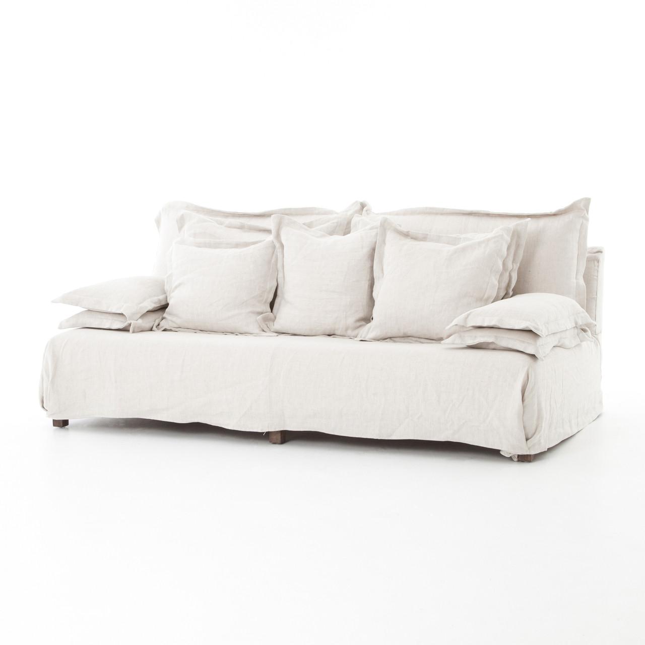 Charmant Esquire Bellevueu0027s 7u0027 Linen Upholstered Sofa