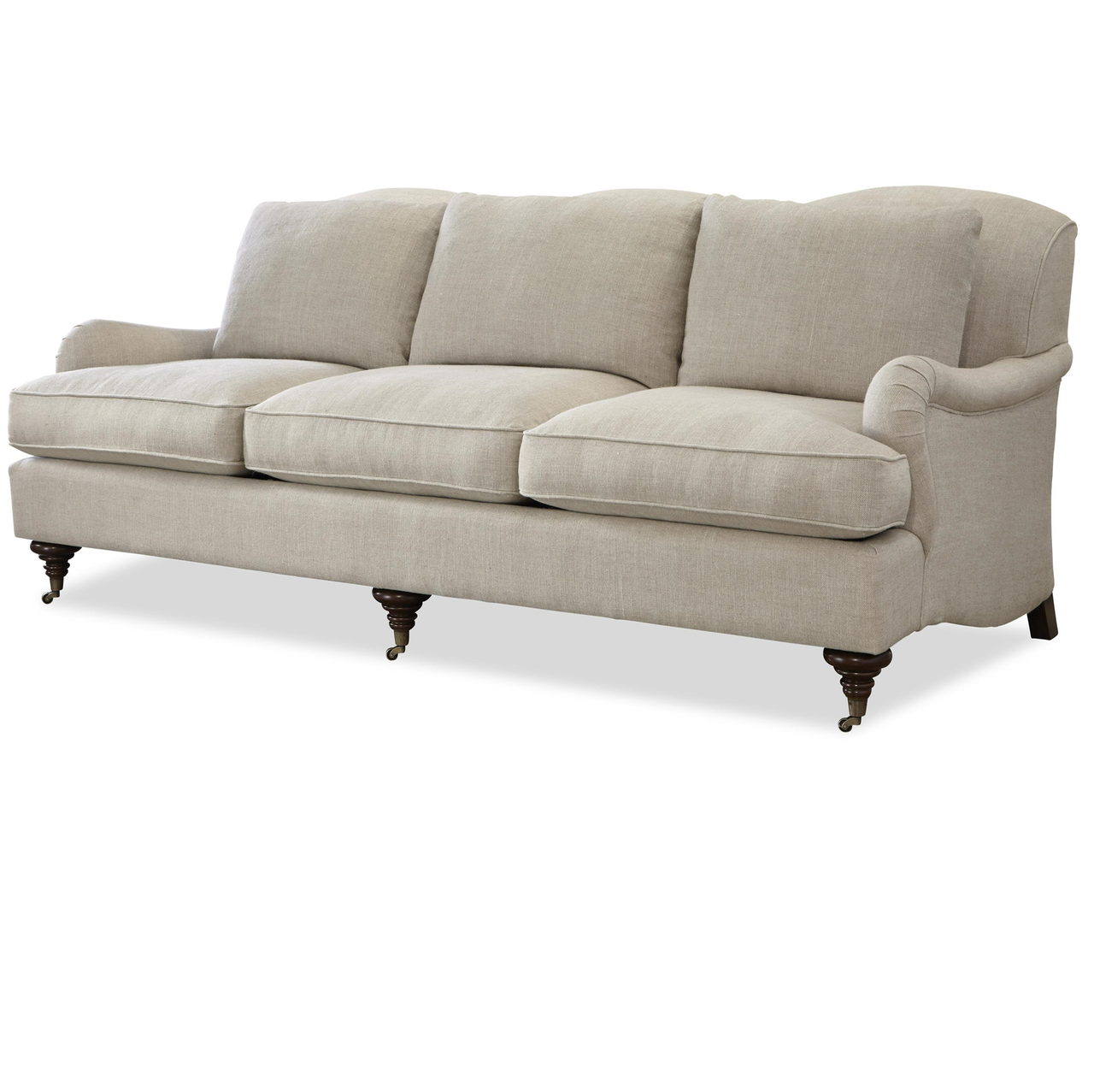 Etonnant Churchill Linen Upholstered English Rolled Arm Sofa