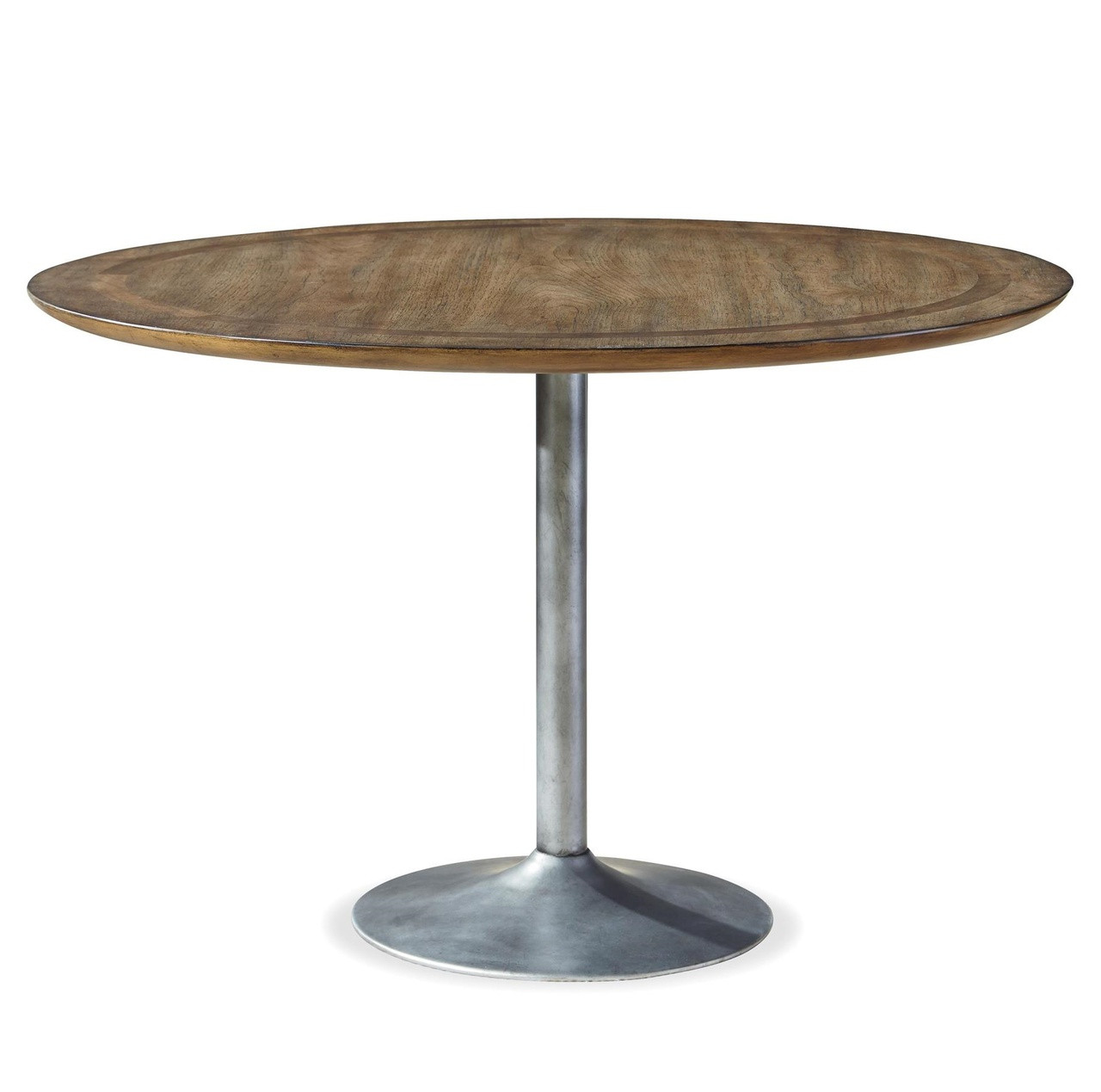 Maison Industrial Metal Pedestal Round Dining Table