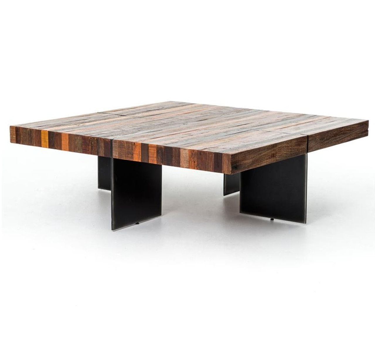 Bina Alec Industrial Rustic Square Coffee Table Zin Home
