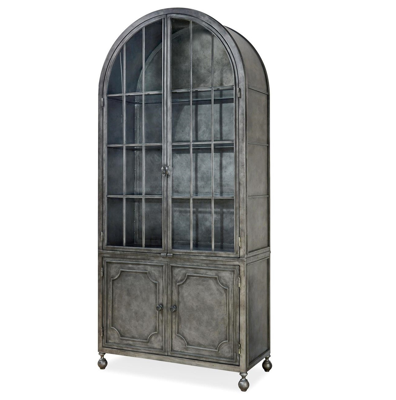 Beau Maison French Industrial Metal Curio Display Cabinet