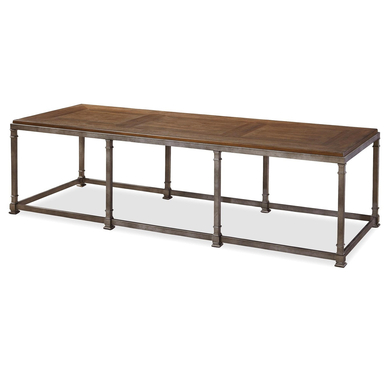 Large Coffee Table Industrial Style: Maison Industrial Metal Leg + Wood Top Large Coffee Table