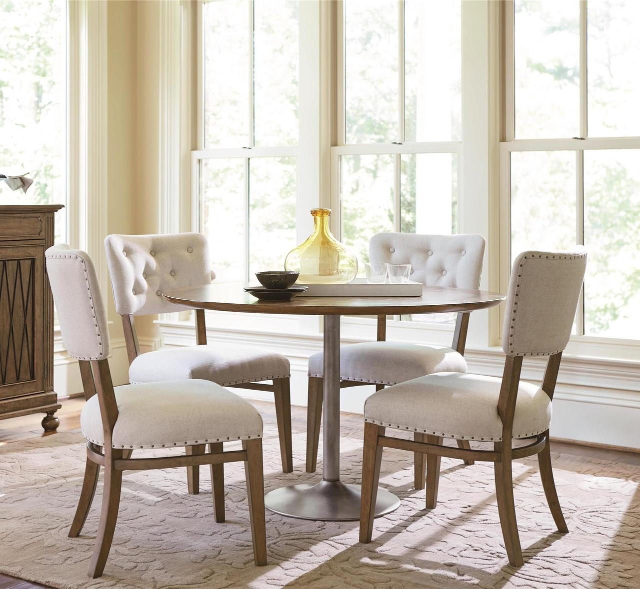 Exceptionnel Maison French Industrial 5 Piece Round Kitchen Table Set