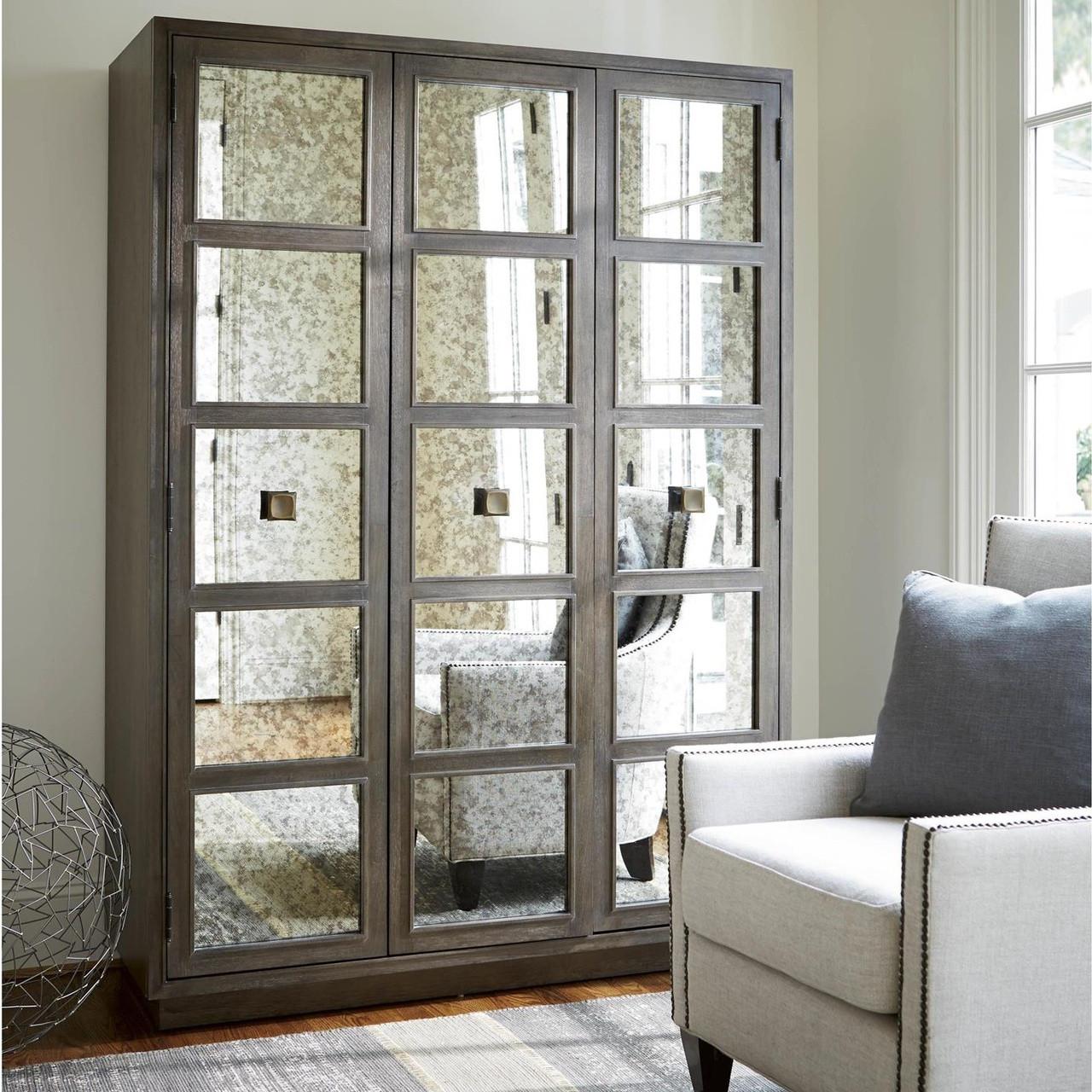 Playlist Antique Mirrored Armoire Wardrobe - Playlist Antique Mirrored Armoire Wardrobe Zin Home