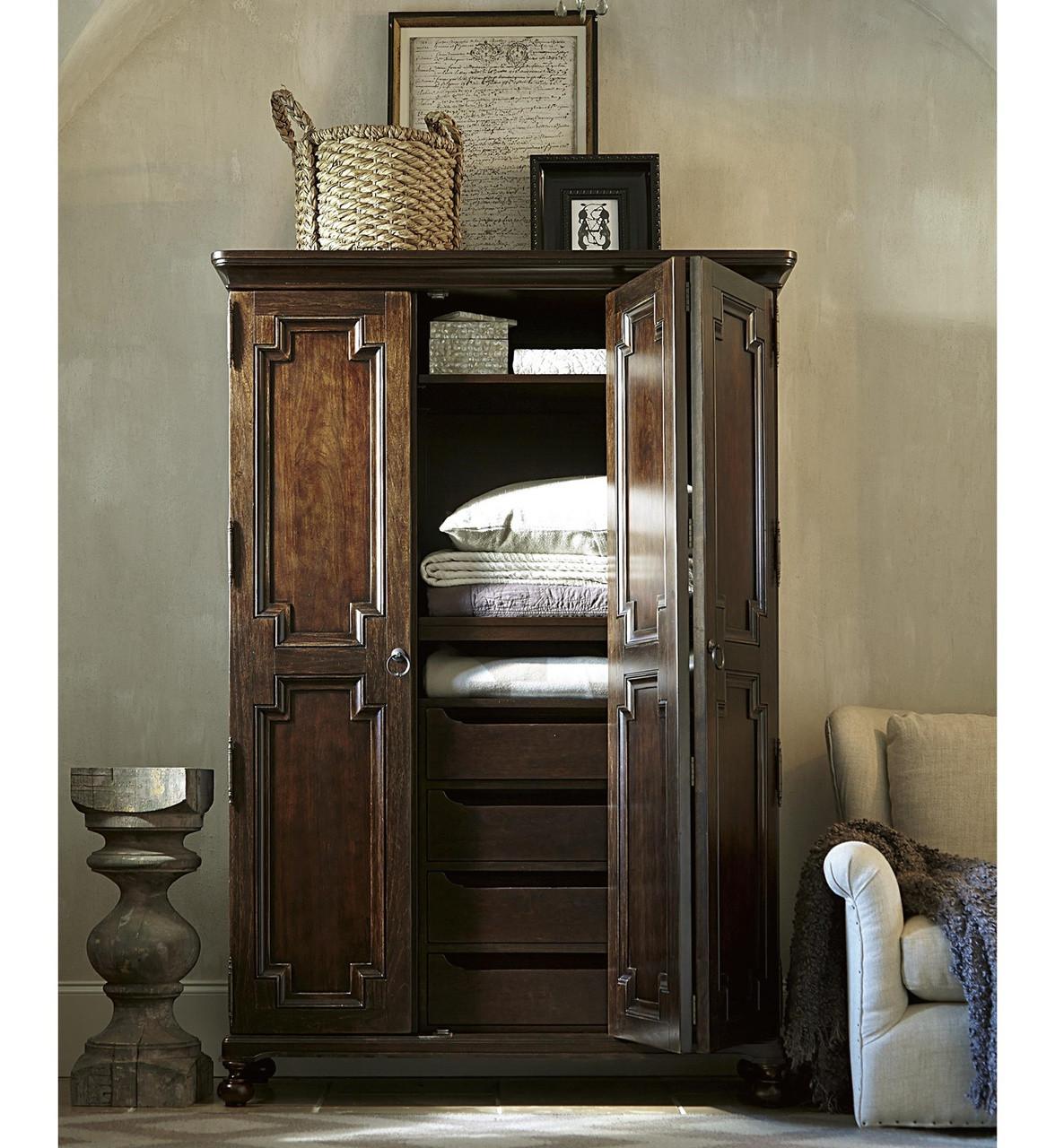 Exceptionnel Proximity Cherry Wood 2 Door Armoire Cabinet