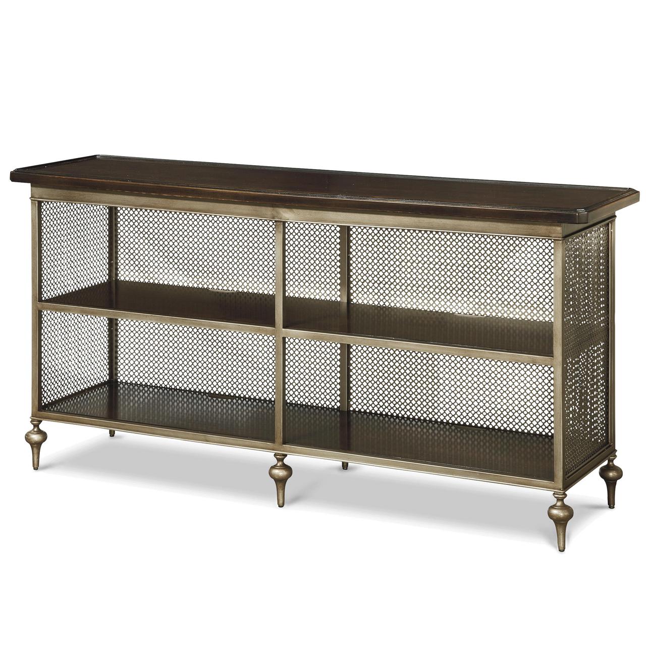 Rollins Industrial Loft Bronze Iron Console Table: Proximity Industrial Bronze Metal Console Table