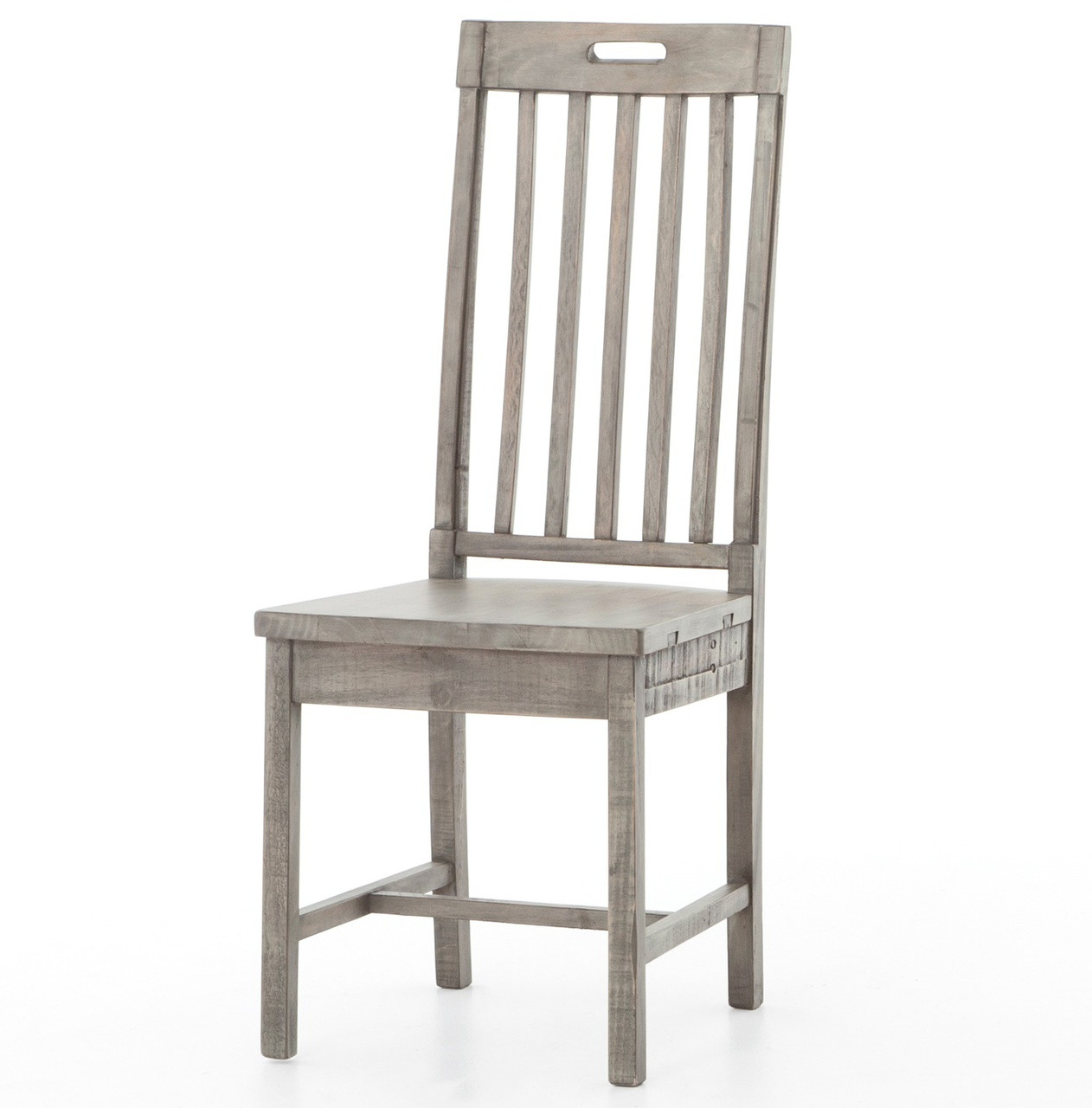 Cintra Rustic Reclaimed Wood Dining Room Chair  Gray