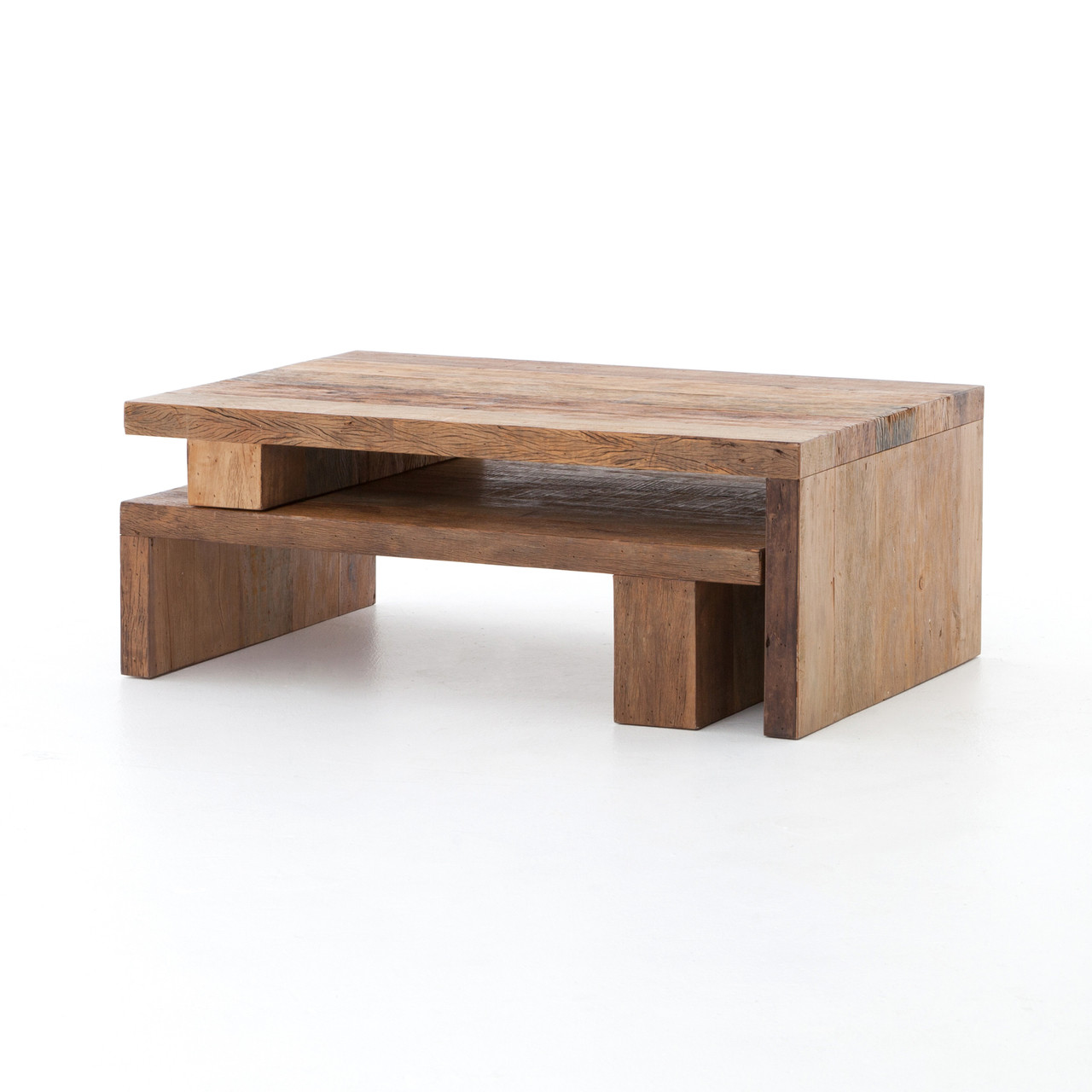 Ferris Reclaimed Wood Modular Nesting Coffee Table Zin Home - Coffee table depth