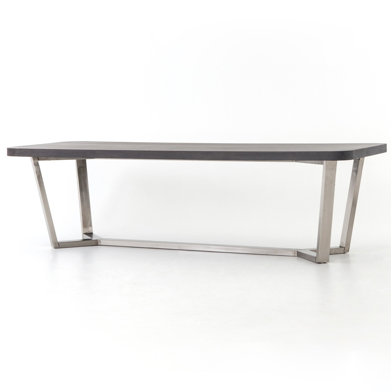Ashton Lavastone Top Stainless Steel Legs Dining Table  Zin Home