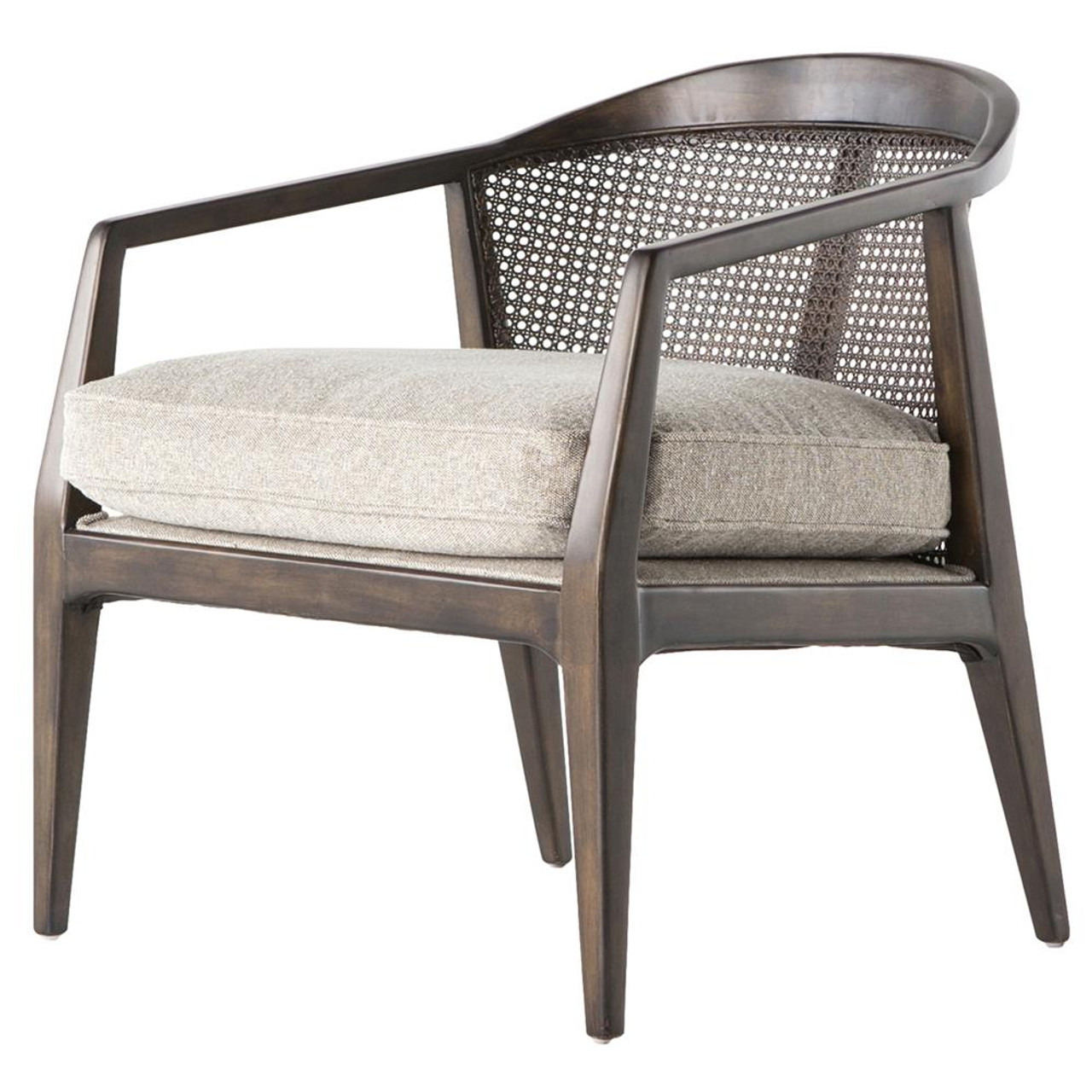 Alexandria Mid Century Modern Woven Back Accent Chair