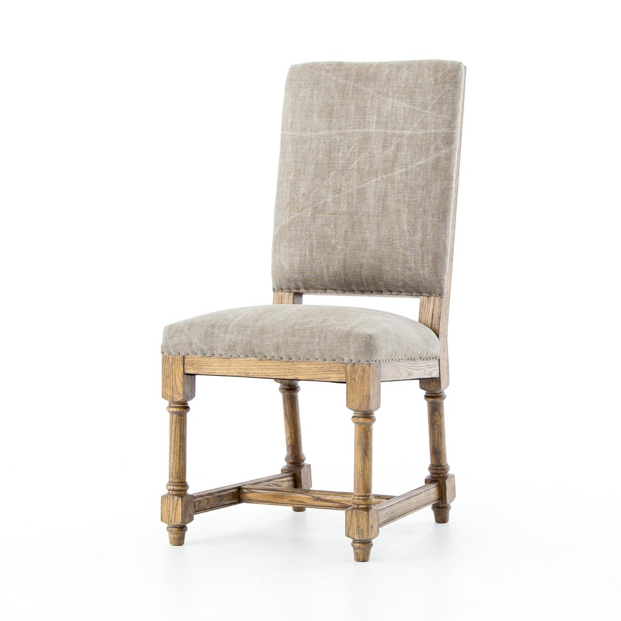 Ashton jute upholstered high back dining chair