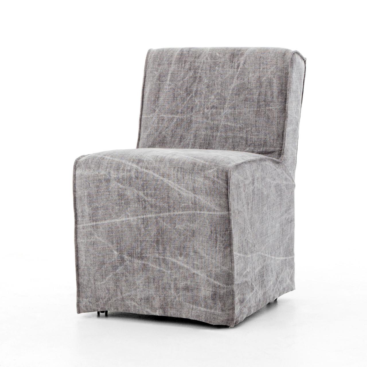 Good Seville French Modern Slipcovered Dining Chair   Jute