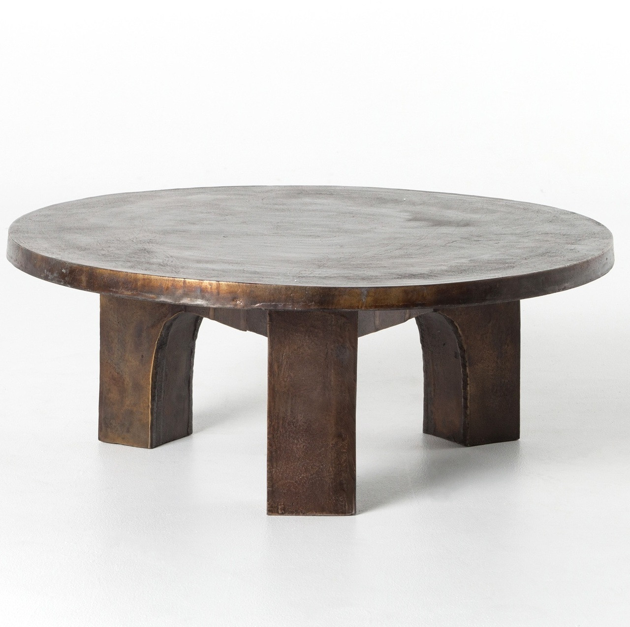 Cruz Round Outdoor Coffee Table   Antique Rust