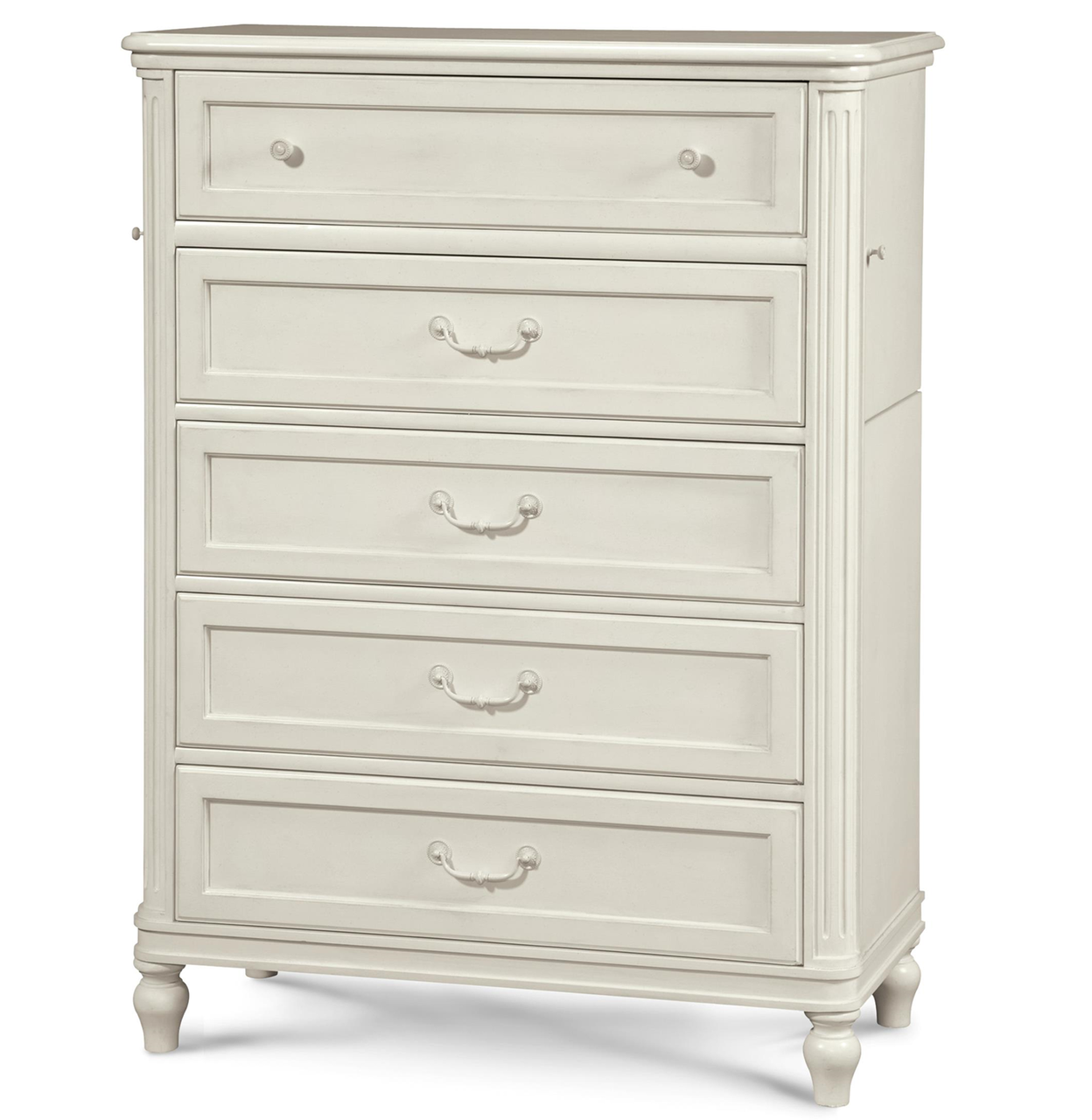 Rosalie Kids 5 Drawers Tall Chest White Zin Home
