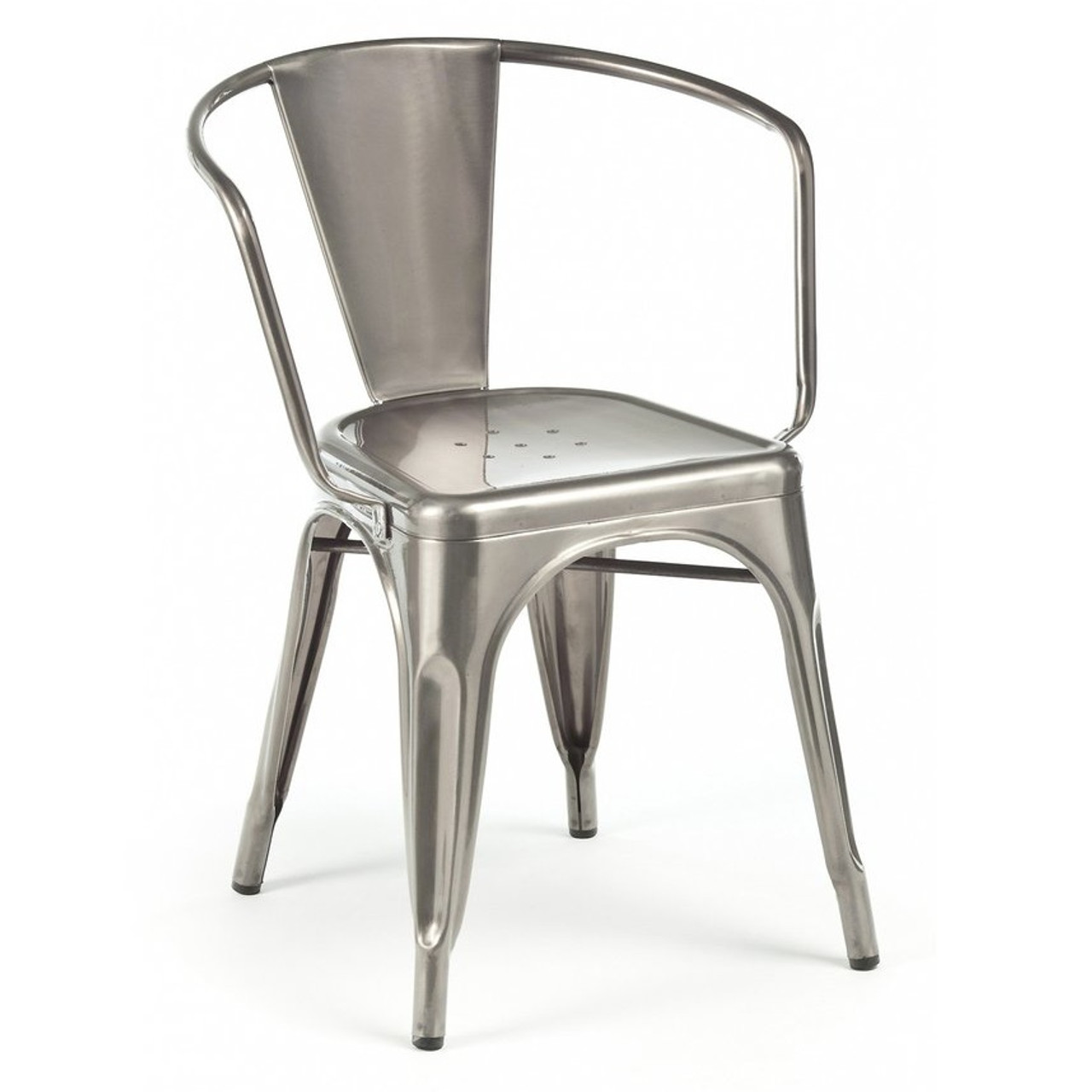 French Industrial Cafe Arm Chairs