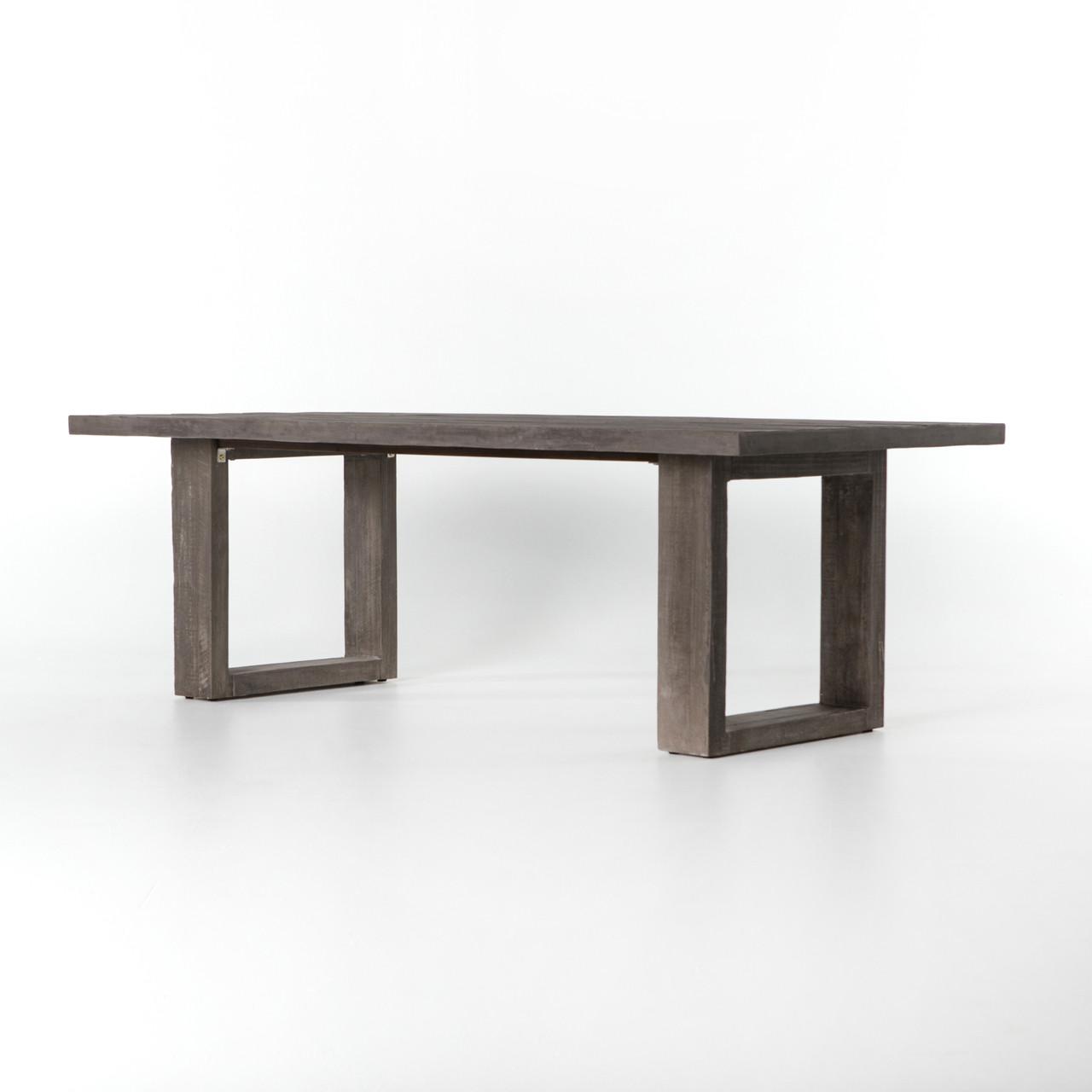 Faux Bois Concrete Outdoor Dining Table Zin Home - Faux concrete outdoor dining table