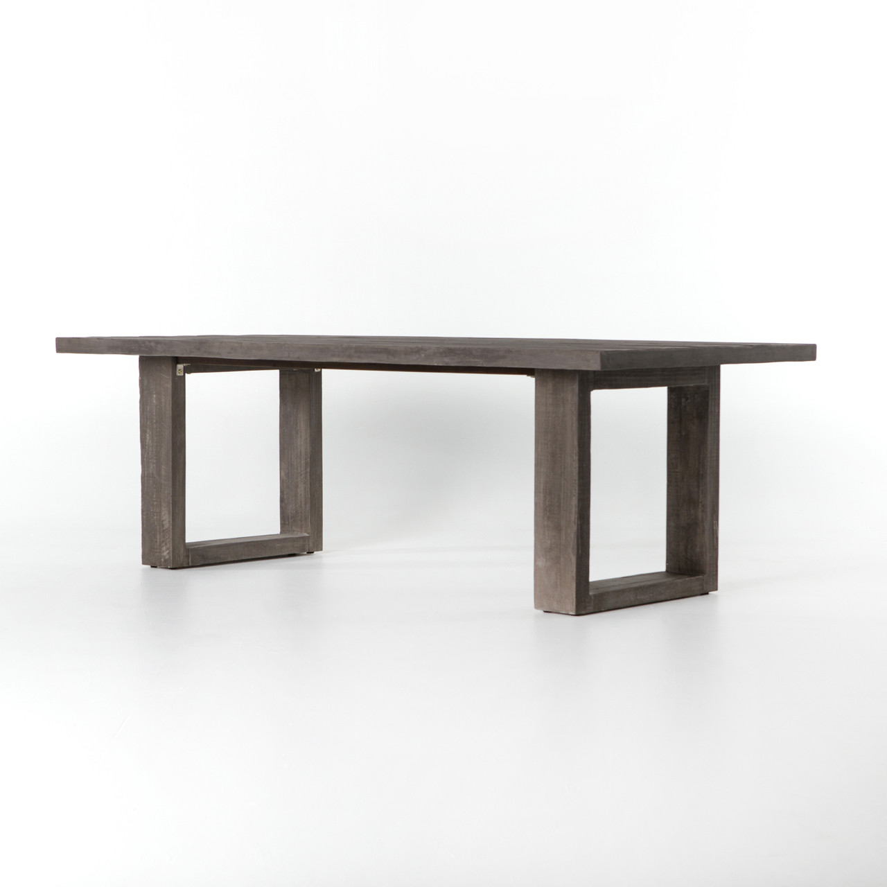 Faux Bois Concrete Outdoor Dining Table