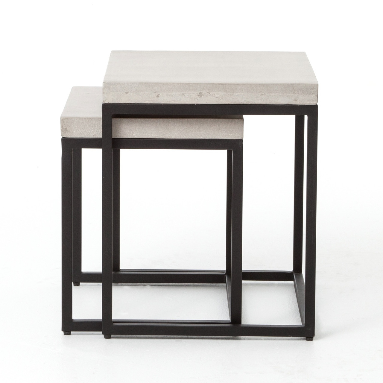 Maximus Indoor / Outdoor Nesting Side Tables   Natural Concrete