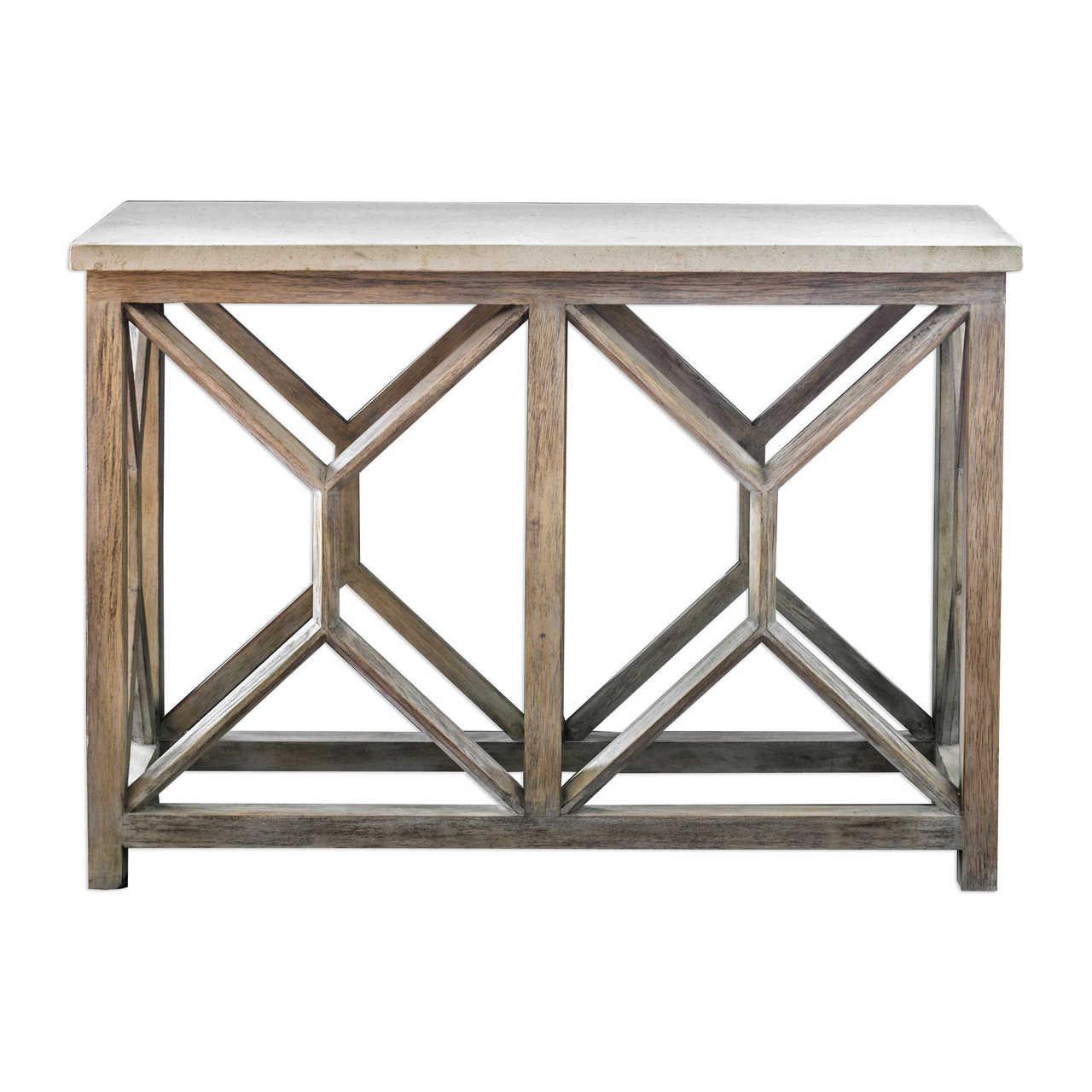 Catali Stone Top Console Sofa Table Zin Home