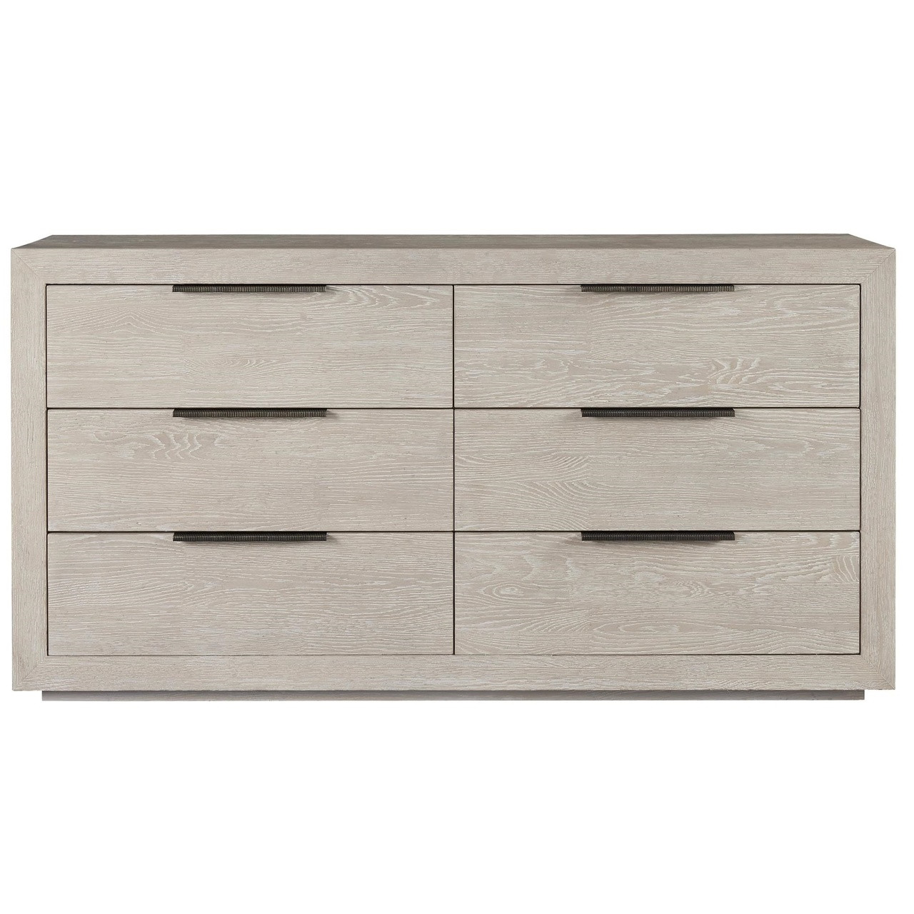 Modern Grey Oak Huston 6 Drawer Dresser 70
